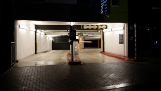 Typical ground floor parking entry