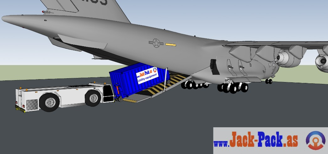 Loading with an aircraft tug